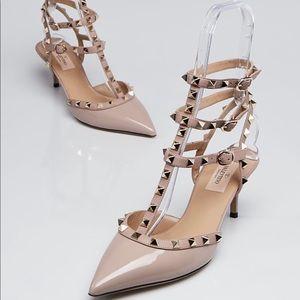 Valentino 36.5 rockstud nude 2.5 inch heel